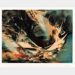 Leonardo M. Nierman (Mexican, b. 1932)      Untitled Abstract Print.