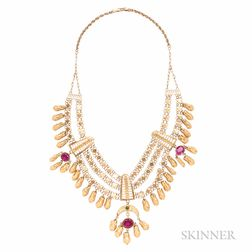 Elaborate High-karat Gold Necklace
