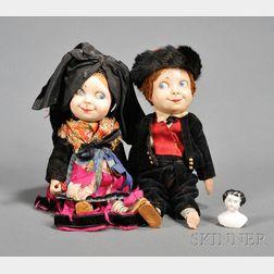 Pair of Hansi Dolls