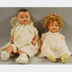 Two Large Composition Baby Dolls
