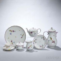 Meissen Floral-decorated Porcelain Tea Service