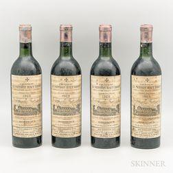 Chateau La Mission Haut Brion 1962, 4 bottles