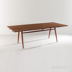 George Nakashima (1905-1990) Turned-leg Dining Table