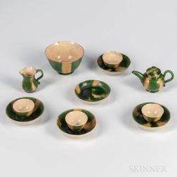 Staffordshire Creamware Miniature Melon Tea Service