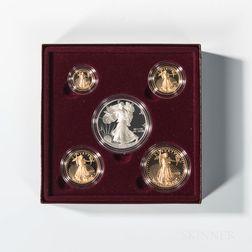 1995 American Gold Eagle Four-coin Proof Set.     Estimate $2,000-3,000