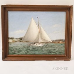 William Bunker (American, 19th/20th Century)       Sloop Under Sail