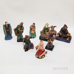 Eight Royal Doulton Ceramic Character Figures