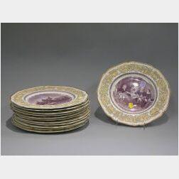 Set of Twelve Crown Ducal George Washington Bicentenary Ceramic Plates