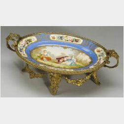 "Bronze Mounted ""Sevres"" Porcelain Centerbowl"
