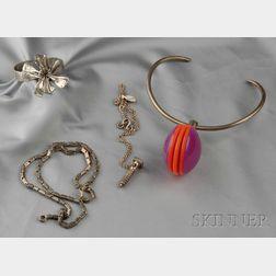 Four Silver Jewelry Items