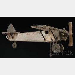 "Painted Wood ""Spirit of St. Louis"" Airplane Weather Vane"