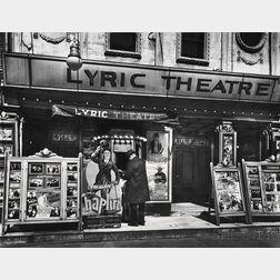 Berenice Abbott (American, 1898-1991)      Lyric Theatre, 100 Third Avenue, Manhattan