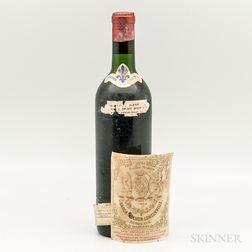 Chateau Pichon Longueville Baron 1959, 1 bottle