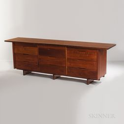 George Nakashima (1905-1990) Walnut Triple Chest of Drawers
