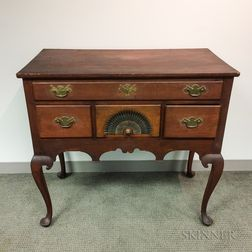Queen Anne Fan-carved Cherry High Chest Base
