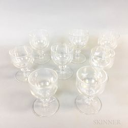Eight Pieces of David Taylor Stemware