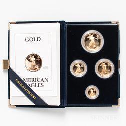 1993 American Gold Eagle Four-coin Proof Set.     Estimate $2,000-3,000