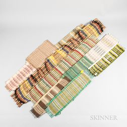 Ten Dorothy Liebes (American, 1897-1972) Weaving Samples