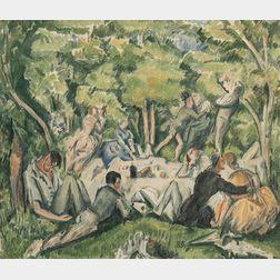 After Paul Cézanne (French, 1839-1906)      Le déjeuner sur l'herbe
