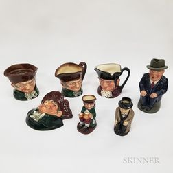 Seven Royal Doulton Character Items