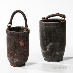 Two Painted Firebuckets