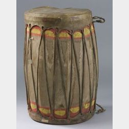 Large Wood and Hide Drum