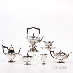 Gorham Sterling Silver Seven-piece Plymouth Pattern Tea and Coffee Service