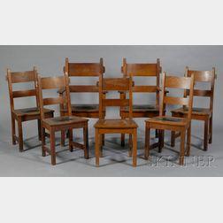 Seven Gustav Stickley Arts & Crafts Chairs