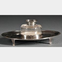 Silver and Glass Inkstand