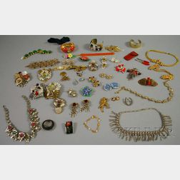 Large Group of Mostly Signed Costume Jewelry