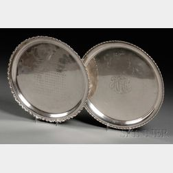 Two Sterling Cake Plates