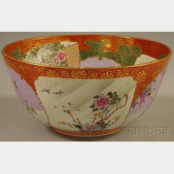 Japanese Satsuma Porcelain Punch Bowl
