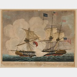 W. Strickland & W. Kneass, engravers and publishers (Philadelphia, c. 1812) Signal Naval Victory, ...U.S. Frigate Constitution, over H.