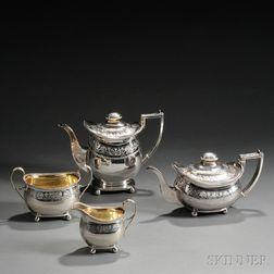 Four-piece George III Sterling Silver Tea Service