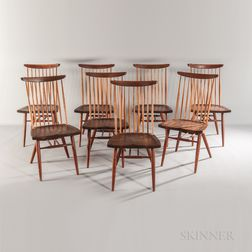 Eight George Nakashima (1905-1990) Dining Chairs