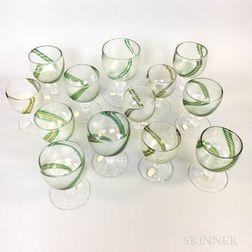 Thirteen David Taylor Iridescent Glasses