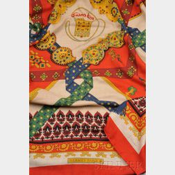 Vintage Cashmere and Silk Scarf, Hermes, Paris