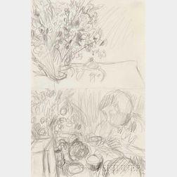 Pierre Bonnard (French, 1867-1947)      Le Petit déjeuner, deux études