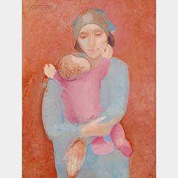 Jack Wolfe (American, 1924-2007)      Mother and Infant