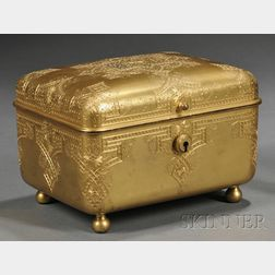 Moorish-style Gilt-bronze Jewel Casket