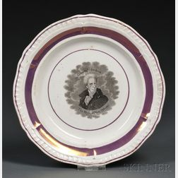 Transfer-decorated Staffordshire Pottery Andrew Jackson Plate