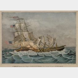 Probably D.W. Kellogg & Co., publisher ( (Hartford, Connecticut, 1830-1900) Combat Between the Frigate Constitution & the British Friga