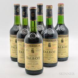Chateau Talbot 1975, 6 bottles