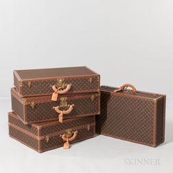 Four-piece Suite of Louis Vuitton Luggage