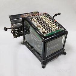 Burroughs Iron and Glass Adding Machine