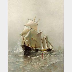 Marcia Susan Oakes Woodbury (American, 1865-1913)  after Marshall Johnson    (American, 1846-1921) At Sea