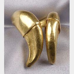 22kt Greek Gold Tusk Ring, Ilias Lalaounis