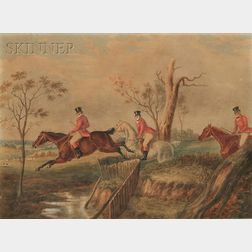School of Henry Thomas Alken (British, 1785-1851)      Fox Hunting Scene