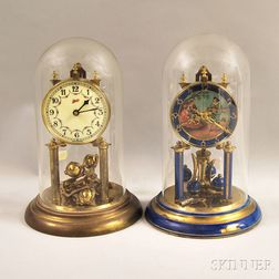 Two Schatz Anniversary Clocks