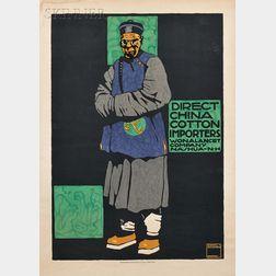 Ludwig Hohlwein (German, 1874-1949)      Direct China Cotton Importers Wonalancet Company Nashua NH